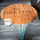 Thumbnail: Loch Fyne barrel end coffee table with duck egg blue hairpin legs