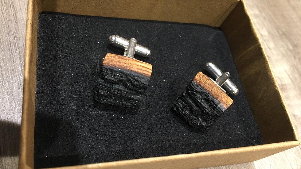 Hand crafted scottish whisky barrel cufflinks