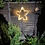 Thumbnail: Star shaped Whisky barrel hoop with outdoor lights