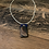 Thumbnail: Deep blue whisky wood necklace with resin