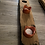 Thumbnail: Triple glass or resin tealight holder set on Scottish whisky stave