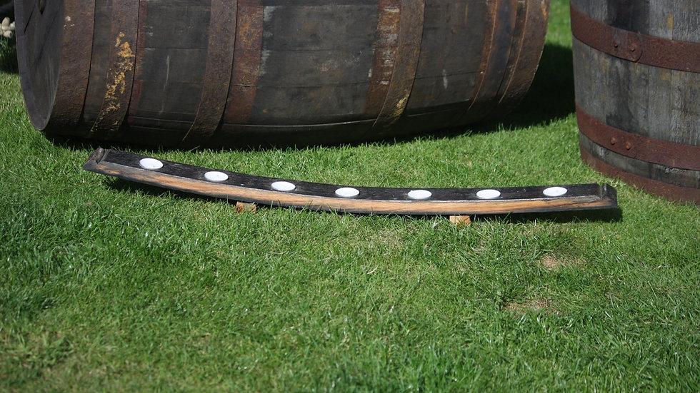 Upturned long whisky stave tealight holder