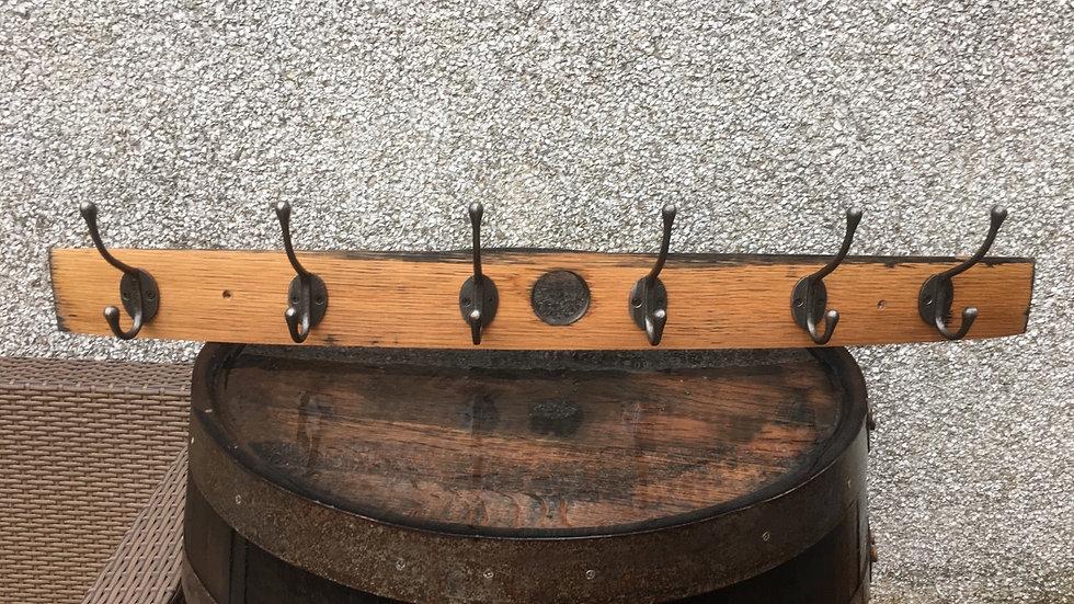 Scottish Whisky stave coat hook with 6 hooks