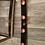 Thumbnail: 4 glass or resin tealight holder set in red wine cask