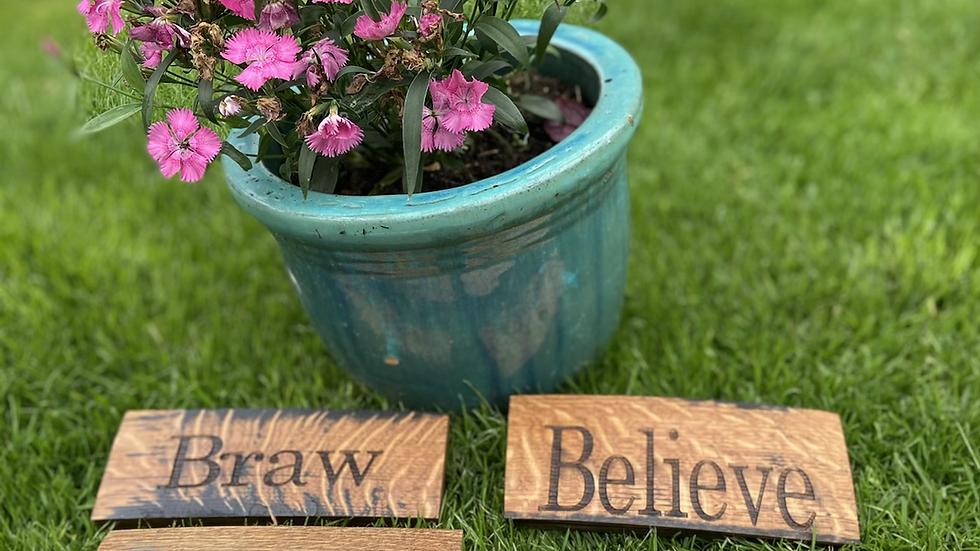 Word wood signs
