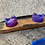 Thumbnail: Twin resin tealight holder in pink and blue