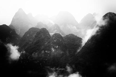 Xianggong HIll Sunrise BW 1.jpg