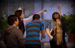 The lab mural