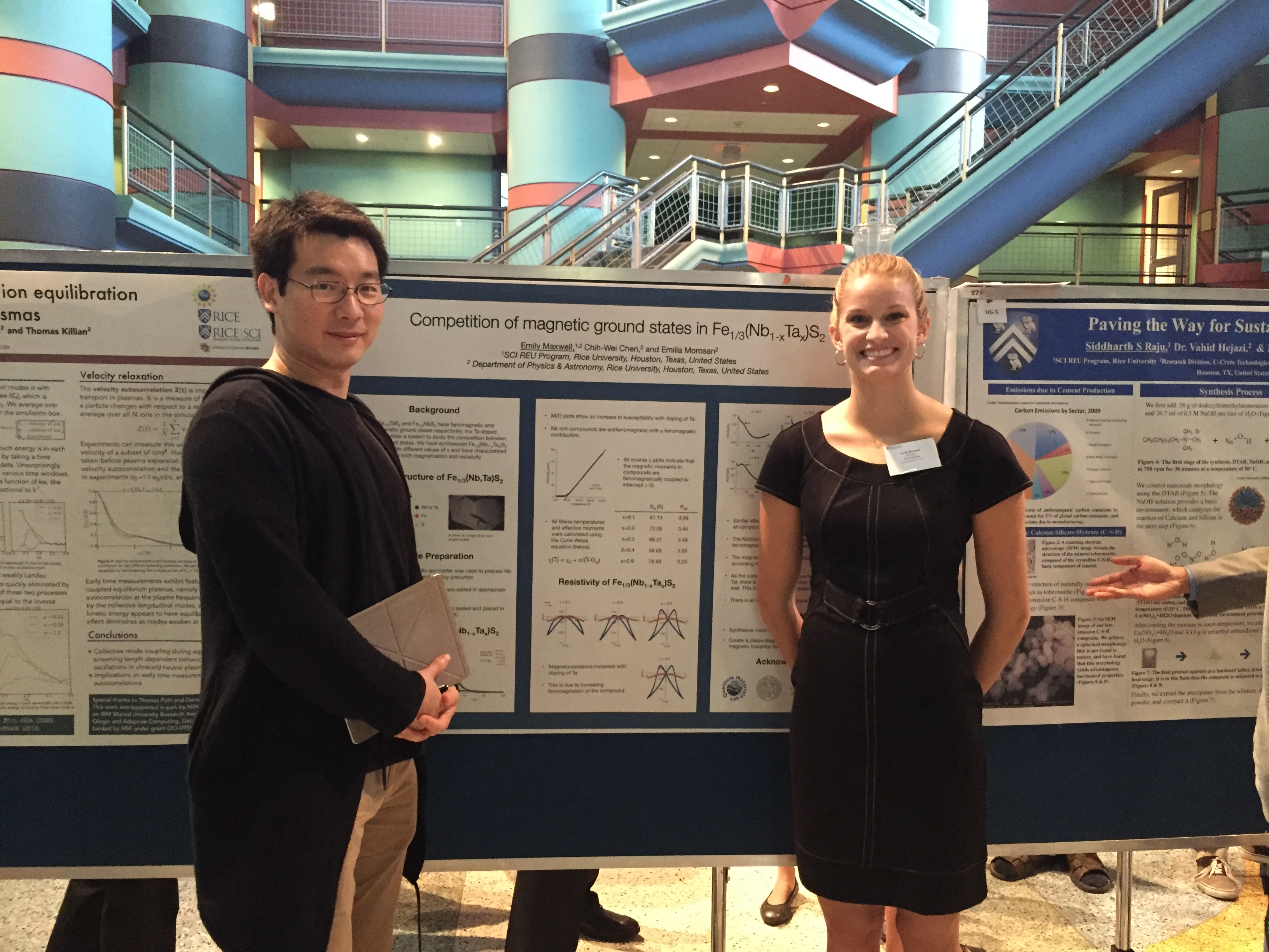 Chih-Wei and Emily at SCI Colloquium