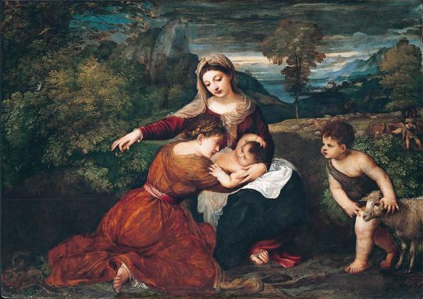 Titian: Virgin and Child with St. John the Baptist and a Female Saint - call to worship