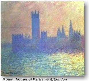 Christian travel art museums Monet: Houses of Parliament London