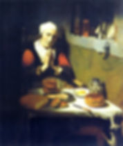 Communion - Nicolaes Maes: Old Woman Praying (Prayer Without End)