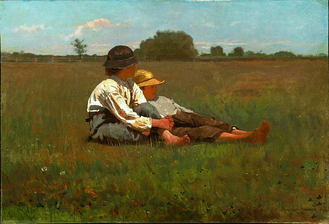 Winslow Homer Boys in a Pasture bereavement devotional