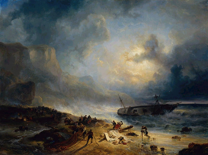 Prayer of petition - Wijnand Nuyen: Shipwreck on a Rocky Coast