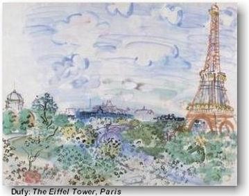 Christian tours art museums Raoul Dufy: Eiffel Tower, Paris