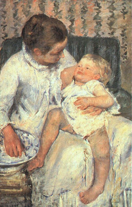 Invitation - Mary Cassatt: Woman Preparing to Wash her Sleepy Child