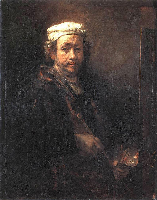 Rembrandt self portrait bereavement devotional