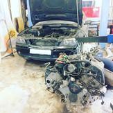 Снятие, установка и ремонт двигателя БМВ 750