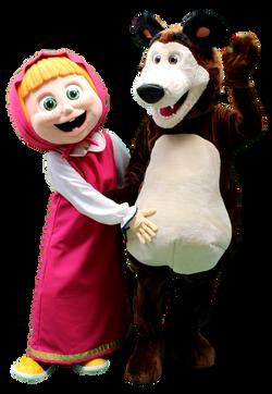 mascote masha e urso