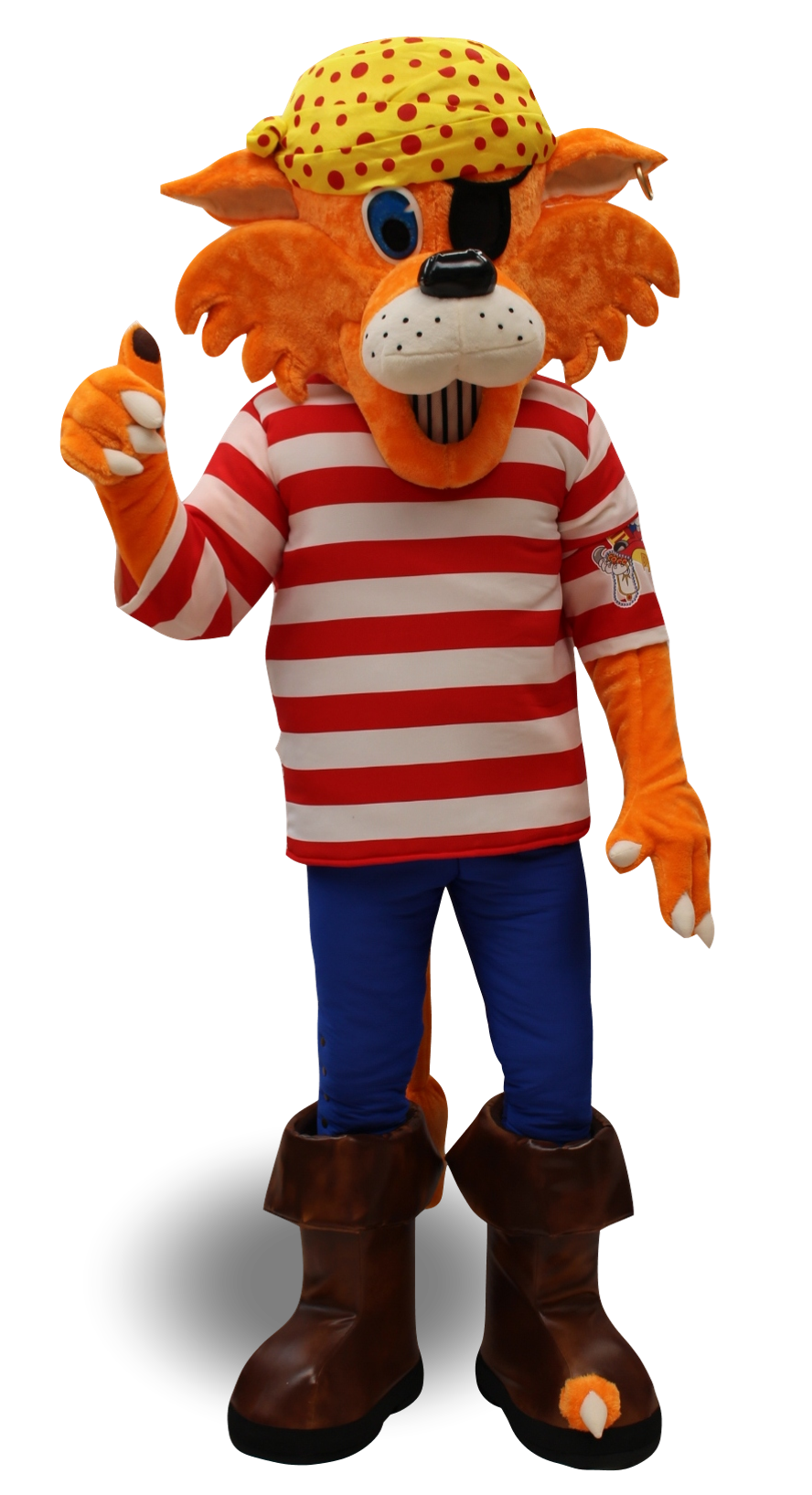 Mascote Partyval Tigre Pirata a