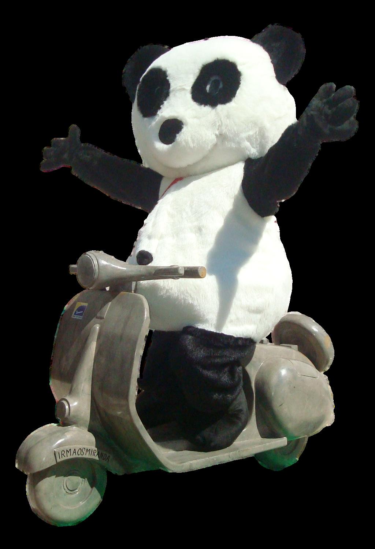 mascote partyval panda na mota
