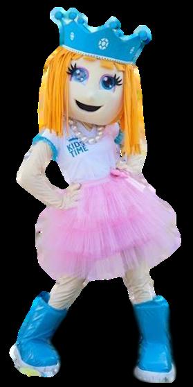 Mascote Partyval Princesa Kids time