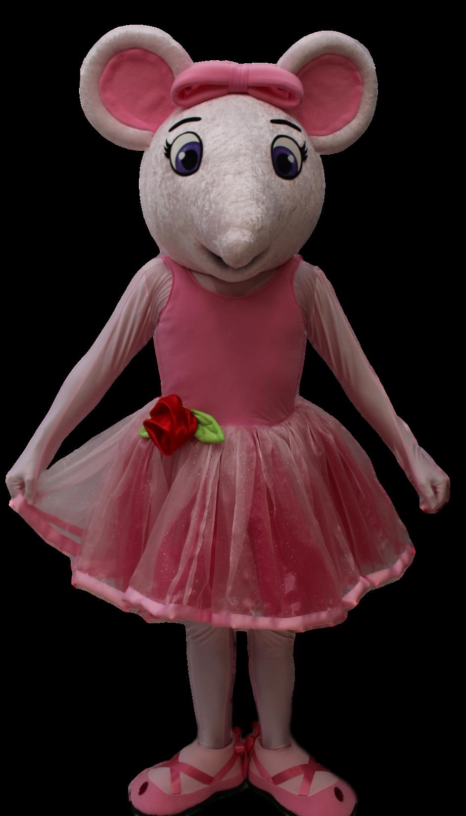 Mascote Ratinha Angelina Ballerina 3