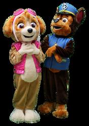 Mascote Partyval Patrulha Pata (Skye e C