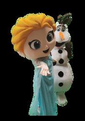 Mascote Partyval Elsa e Olaf 1