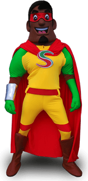 spice hero superhero mascot costume
