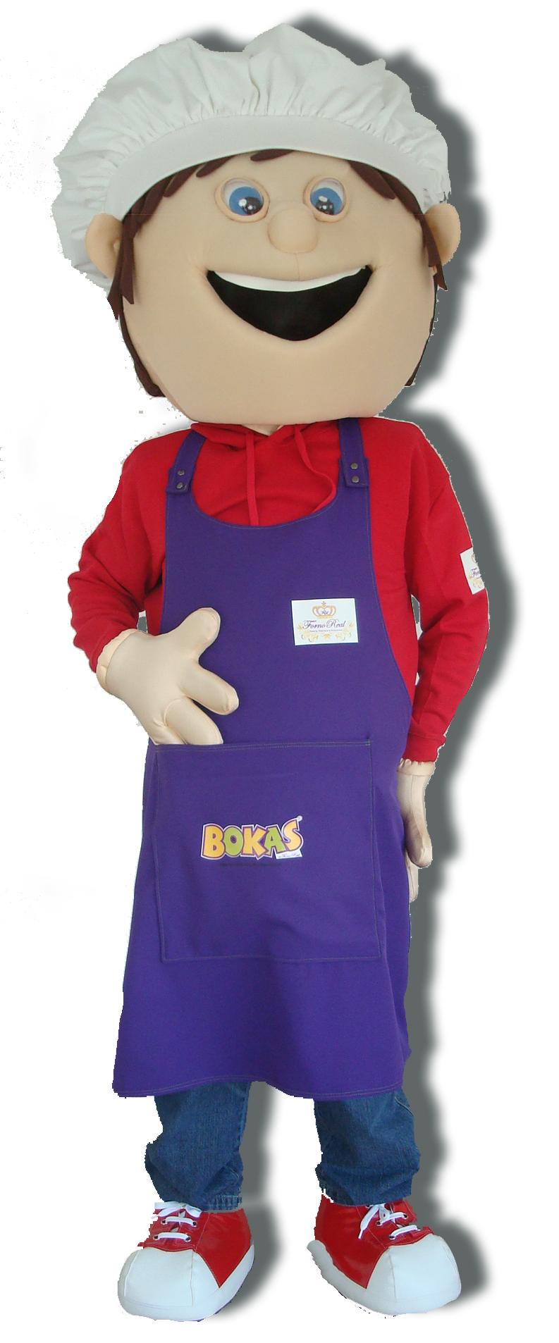 Mascote Partyval cozinheiro bokas