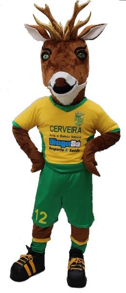 Mascote Partyval cervo futebol