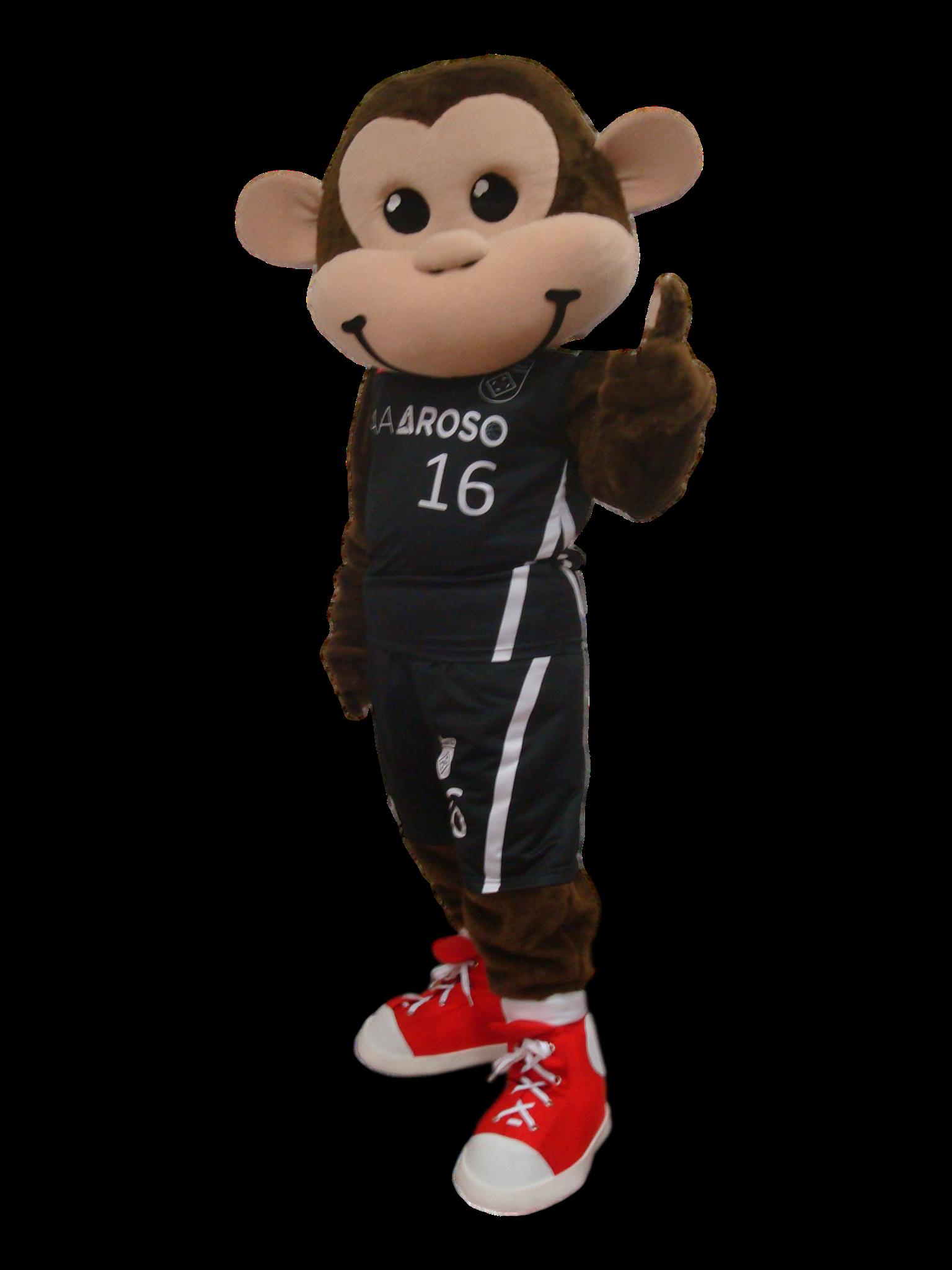 Mascote Partyval Macaco Basket