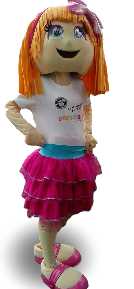 Mascote Partyval Menina boneca Mia