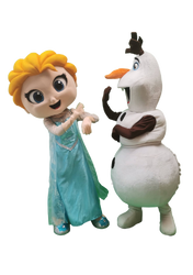 Mascote Partyval Elsa e Olaf 2