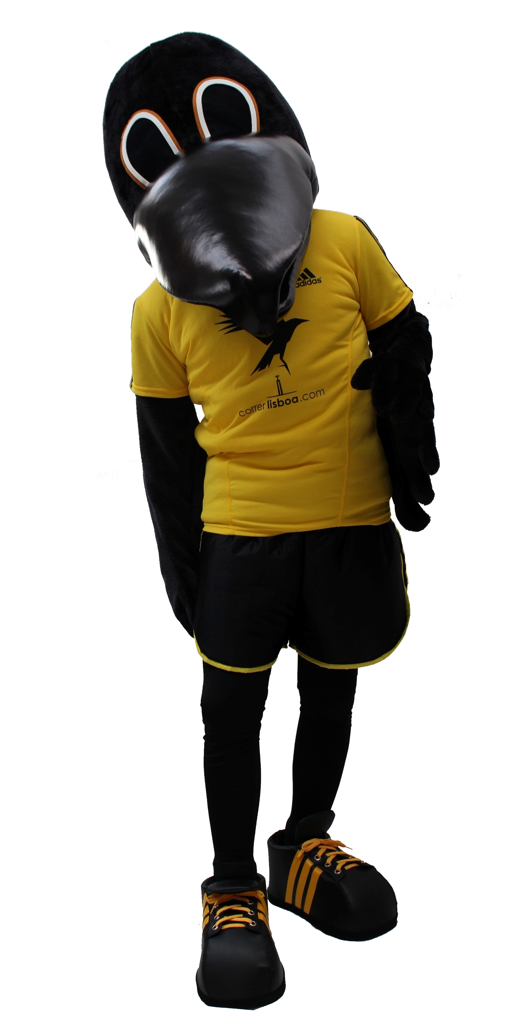 Mascote Partyval corvo correr lisboa
