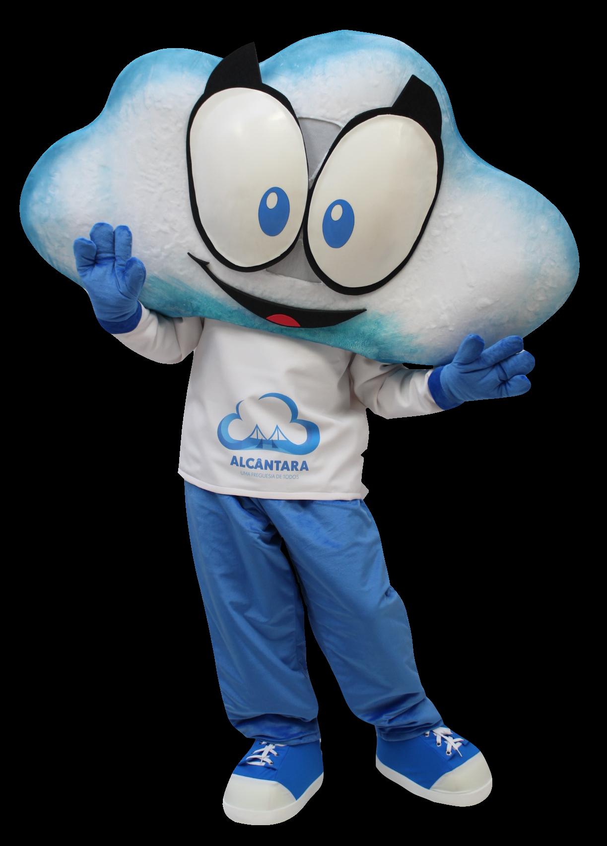 Mascote Partyval Nuvem Alcantara