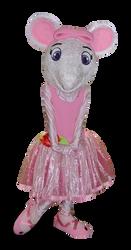 Mascote Ratinha Angelina Ballerina 1