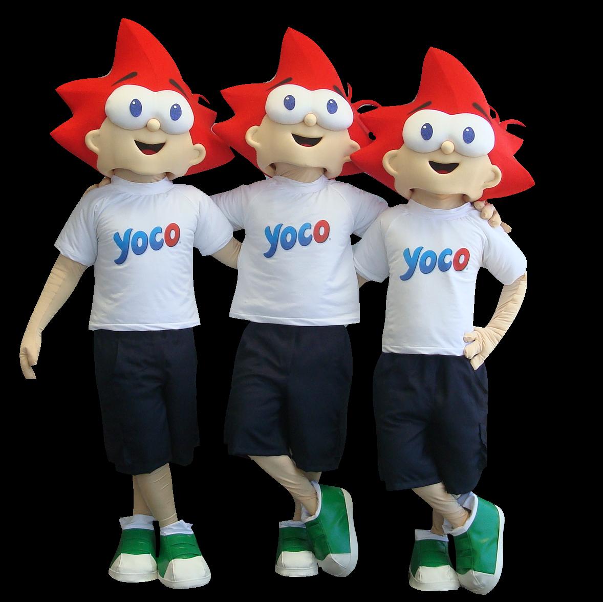 Mascote Partyval Meninos Yoco 3