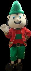 Mascote Partyval Natal Duende verde