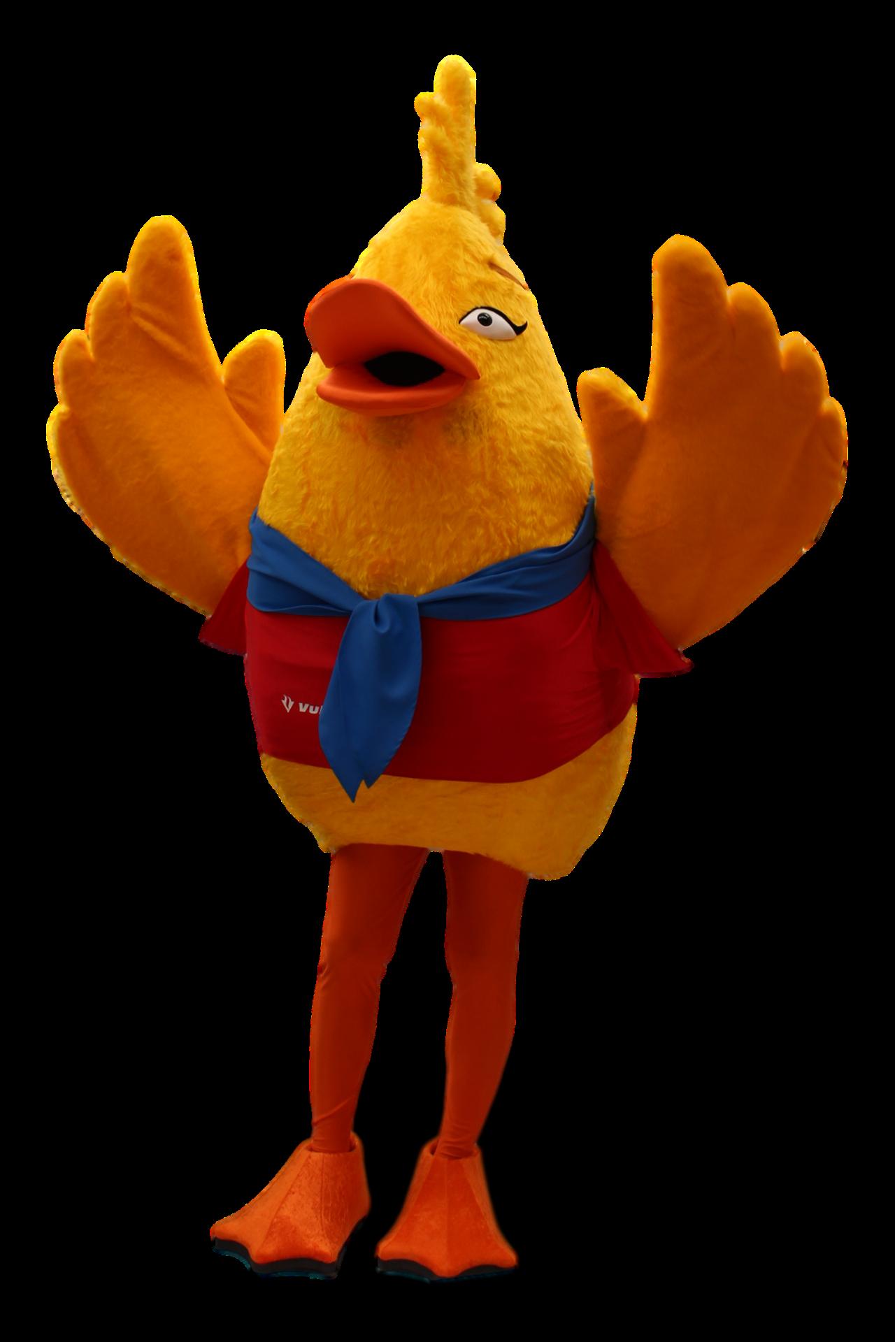 Mascote Partyval Pato Vulcano 2