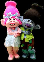 Mascote Partyval Trolls 3