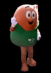 Mascote Partyval Sementinha Crédito Agrícola 2