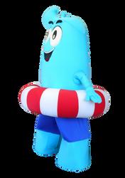 Mascote Partyval Onda Gigante 2