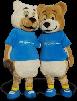 orphans charity mascot costume bears