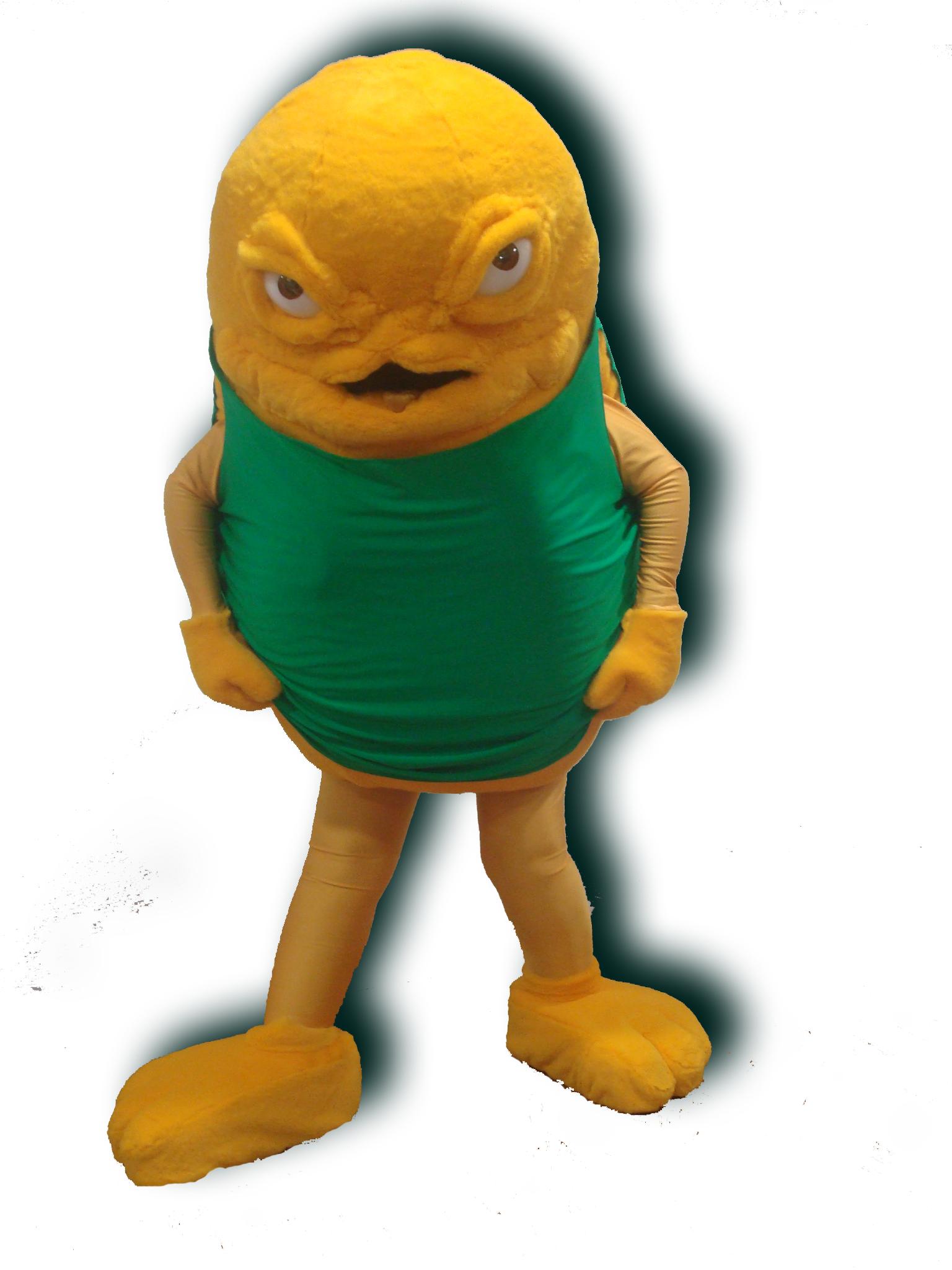 Mascote Partyval Monstro da fome Danone