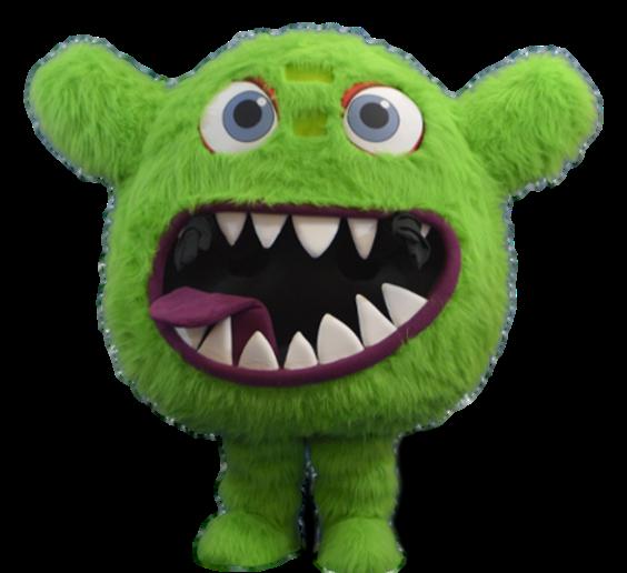 Mascote Partyval Monstro Verde