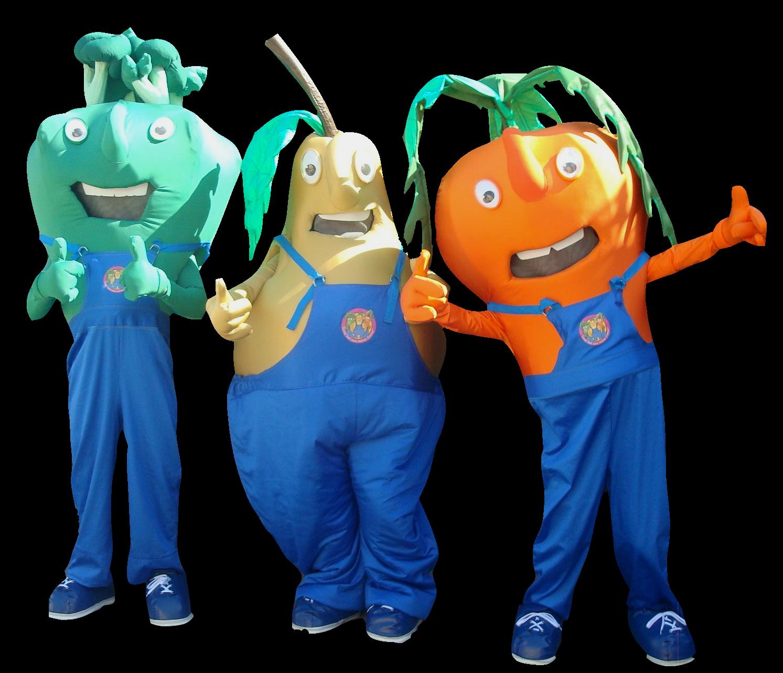 Mascote Partyval Vegetais Pipas
