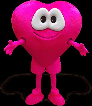 mascote coração