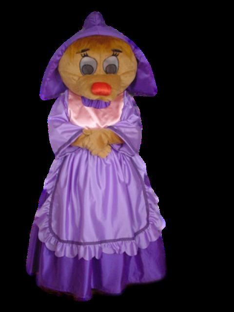 Mascote Partyval Ratinha Cinderela